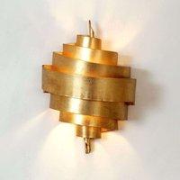 Impressive wall lamp BANDEROLE in gold