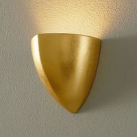 Wall lamp Matteo Piccola with gold leaf