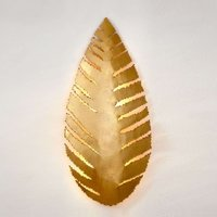 Leaf shaped wall lamp Pietro