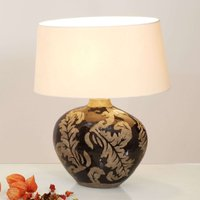 Toulouse oval table lamp  43 cm high  black