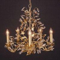 Exquisite chandelier Buono 5 bulb  gold