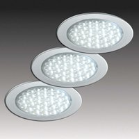 Three R 68 recessed lights  stainless steel look