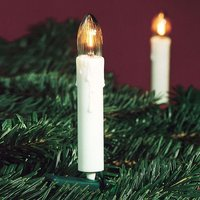Inexpensive 16 bulb fluted candle string lights