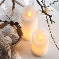 Up to date LED wax candle  5 cm x 9 5 cm  white