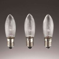 E10 1 5W 8V spare candle bulbs in a pack of 3