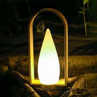 Harmony wooden decorative light  rechargeable