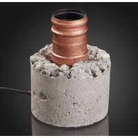 Cement table lamp in grey