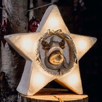 LED star with internal reindeer motif