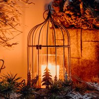 524123 decorative bird cage with LED candle