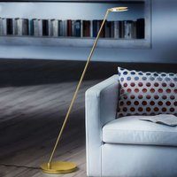 Tilting Plano S LED floor lamp brass