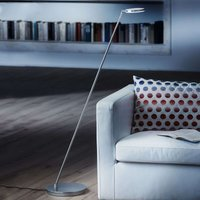 Plano S LED floor lamp with matt aluminium finish