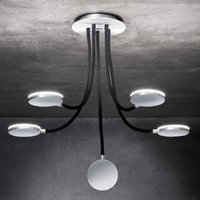 With five black arms   Flex D5 LED ceiling light