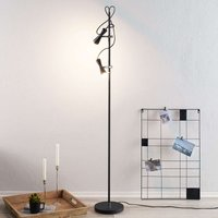 Upbeat LED floor lamp Move  two bulb  black