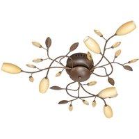 Six bulb Florentine ceiling lamp Grosseto