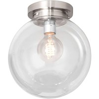 Globe ceiling light with a clear spherical shade