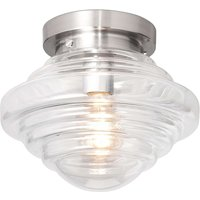 York glass ceiling light with a clear lampshade