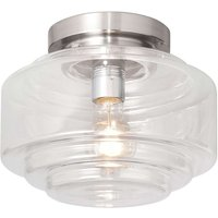 Cambridge ceiling lamp with glass lampshade