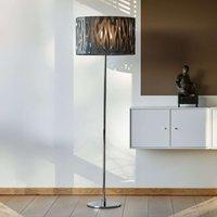 Grass floor lamp with smoke grey acrylic lampshade
