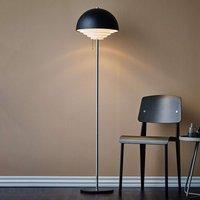 Motown metal floor lamp in black