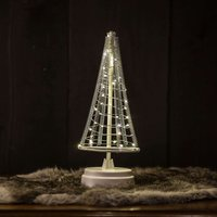 Santa s Tree  silver wire  height 26 cm