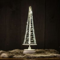 Santa s Tree  silver wire  height 33 5 cm