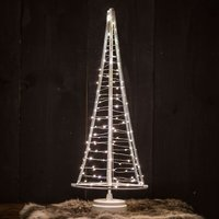 Santa s Tree  silver wire  height 51 cm