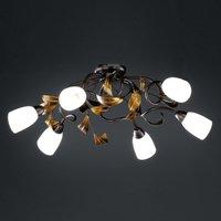 Supra curved ceiling light  six bulb