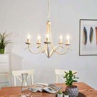 Hannes chandelier  antique white  five bulb