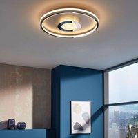 LED ceiling light Bug round  chrome  60cm