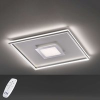 LED ceiling lamp Bug square  chrome 60x60cm