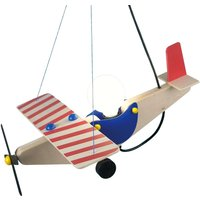 Wooden Aeroplane Hanging Light Colourful