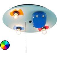 3 bulbs Ceiling Light Whale w  LED Colour Changer