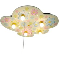 Colourful Flowers cloud shaped ceiling lamp  LED