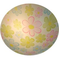 Round Colourful Flowers ceiling light for kids
