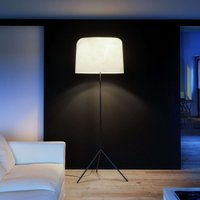 With fibre glass lampshade   floor lamp Ola white