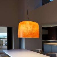 Fibre glass hanging light Ola  orange