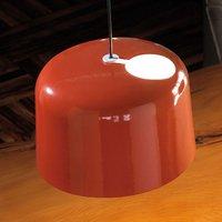 Glossy orange ceramic hanging light Add