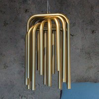 Special LED hanging light Pipes in gold
