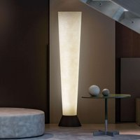 Fibre glass lampshade   LED floor lamp Elios white