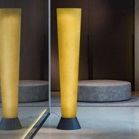 LED floor lamp Elios  orange fibre glass lampshade