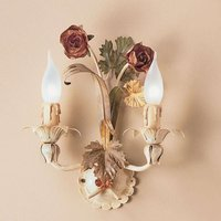 Hand painted wall light ROSETO