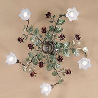 Rosaio ceiling light  round  five bulb