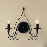 Two bulb blue black wall light FILO