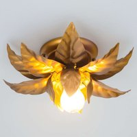 Ceiling light ANTIK with golden leaves 26 cm
