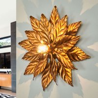 Ceiling light ANTIK with golden leaves 40 cm