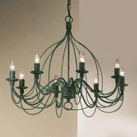 Chandelier FILO  eight bulb  antique green