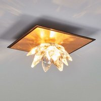 Fiore ceiling light  gold leaf and crystal  1 bulb