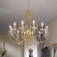 KOLARZ Carat   12 bulb chandelier  gold plated