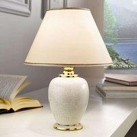 KOLARZ Giardino Craclee white table lamp 30 cm