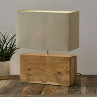 KARE Rectangular Wood   wooden base table lamp